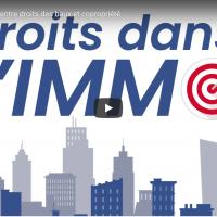 1ere image de la vidéo sur l'action oblique. Elle représente des immeubles et donne le titre de la série.